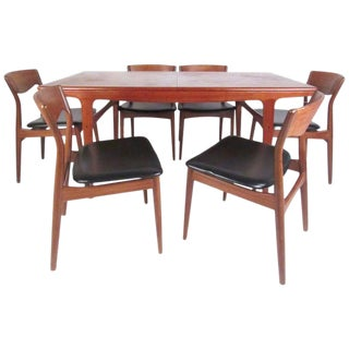 Scandinavian Modern Dining Set by Arne Hovmand Olsen for Møgens Kold Mobelfabrik For Sale