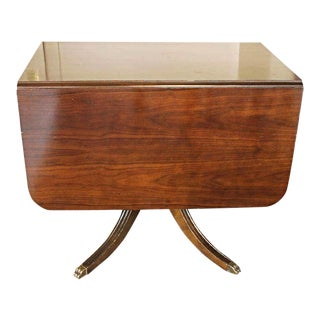 Mahogany Drop Leaf Claw Foot Table