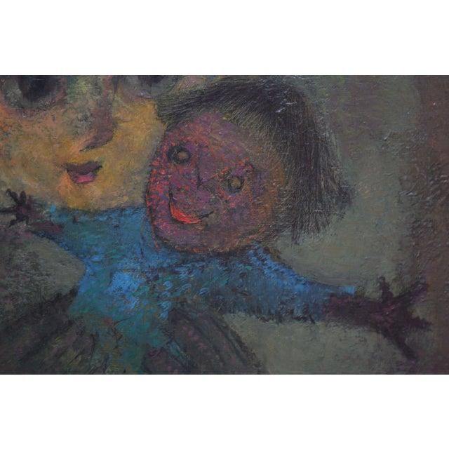 Karnig Nalbandian 'Blue Doll' Oil on Canvas, 1953 For Sale - Image 4 of 11