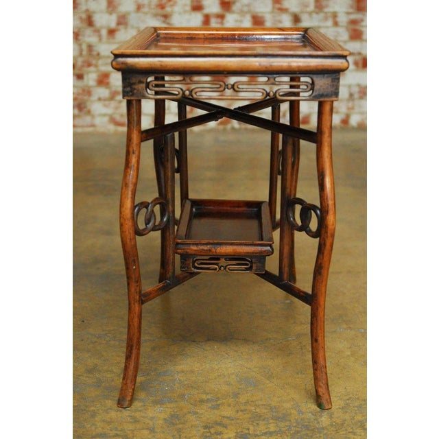 Chinese Qing Rosewood Folding Tray Table For Sale - Image 10 of 10