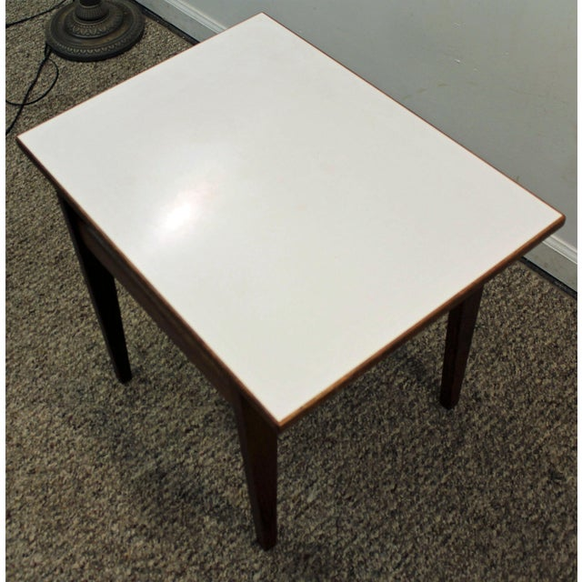 Jens Risom Vintage Danish Floating Top Side Table - Image 7 of 9