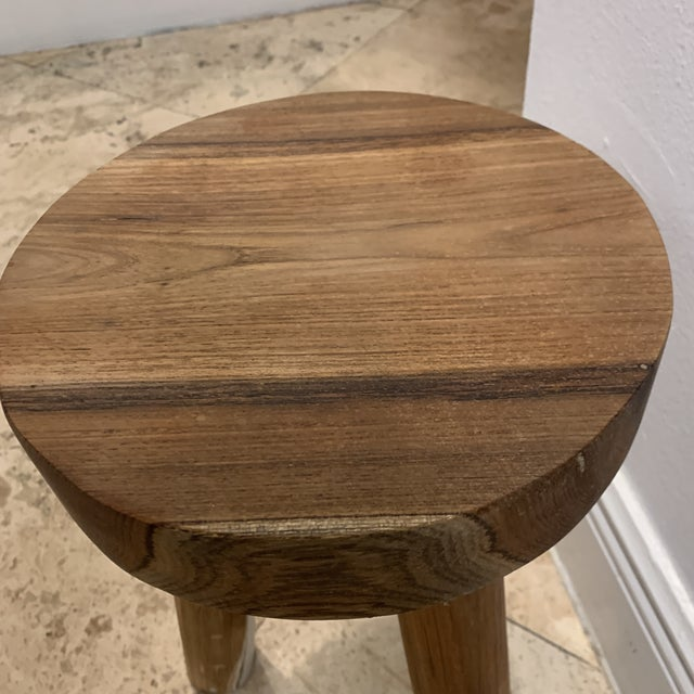 Wood 1970s Ingvar Hildingsson Style Pearwood Stool For Sale - Image 7 of 11
