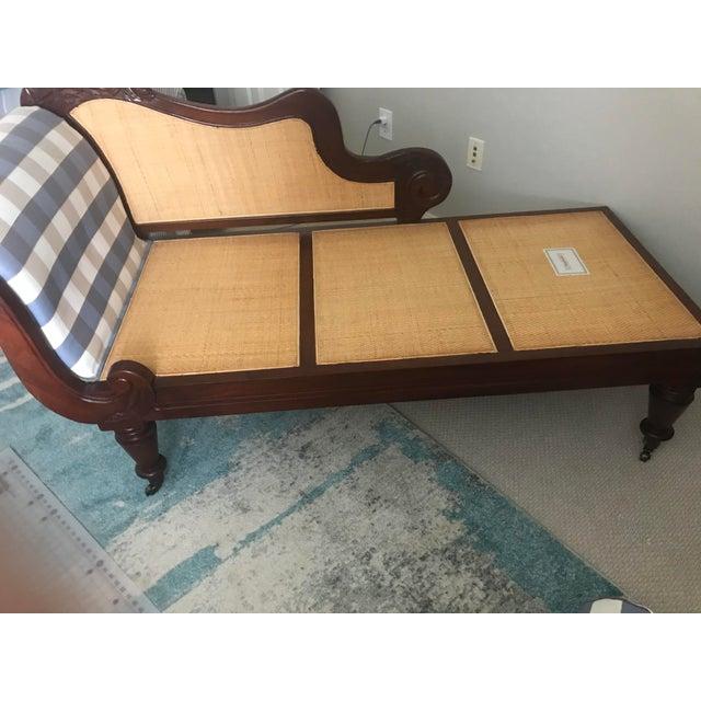 Henredon Henredon Mahogany Chaise Lounge For Sale - Image 4 of 6
