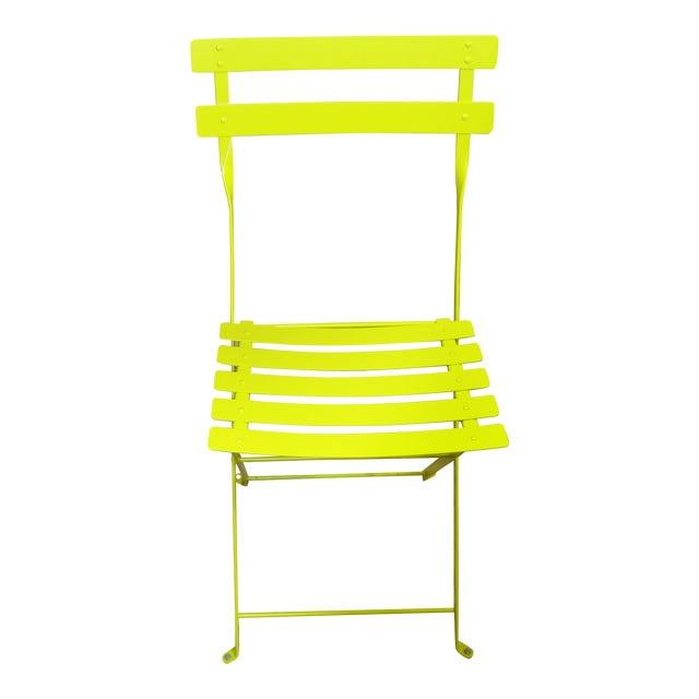 Fermob Bright Yellow Bistro Chair For Sale