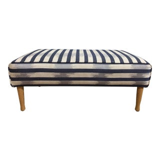 s.c.p. Lucas Bench in Christopher Farr Cloth For Sale