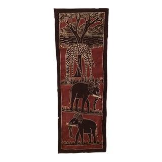 Vintage African Batik Art Wall Hanging