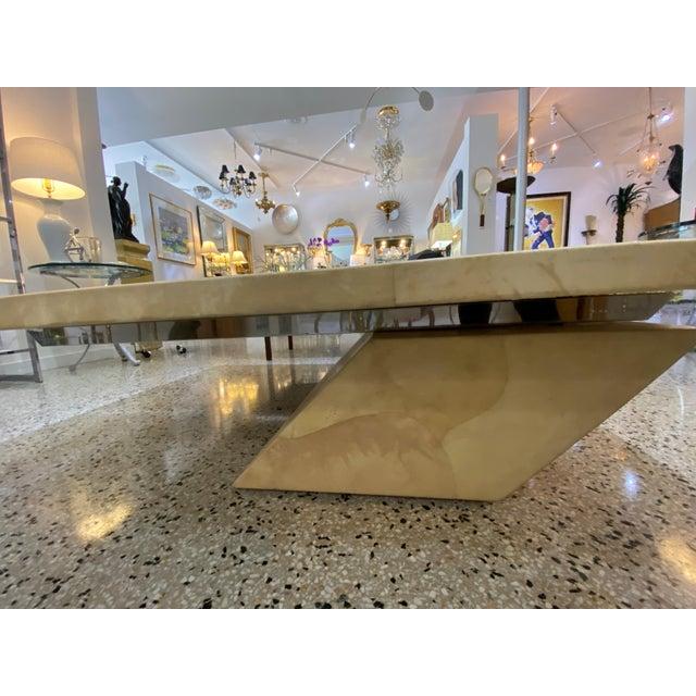 Metal Karl Springer Style Goatskin Cocktail Table For Sale - Image 7 of 13