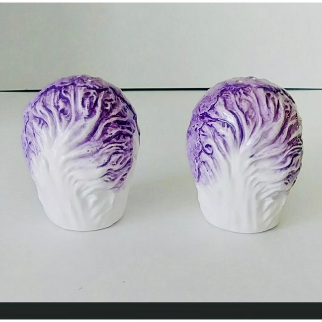 Vintage Fitz & Floyd Cabbage Salt & Pepper Shakers - a Pair For Sale In New York - Image 6 of 6