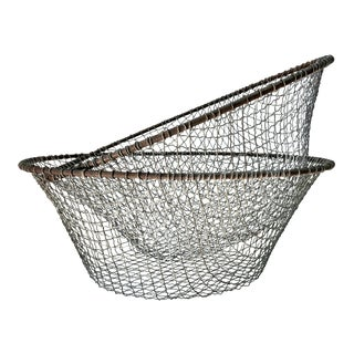 Mid 20th Century Vintage Wire Storage Baskets, - a Pair For Sale