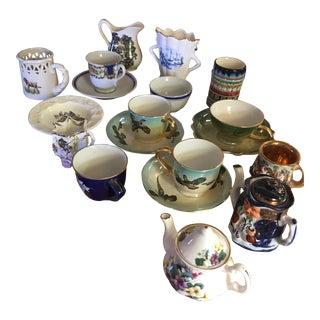 China Tea Service Mismatched Pieces - Set of 19