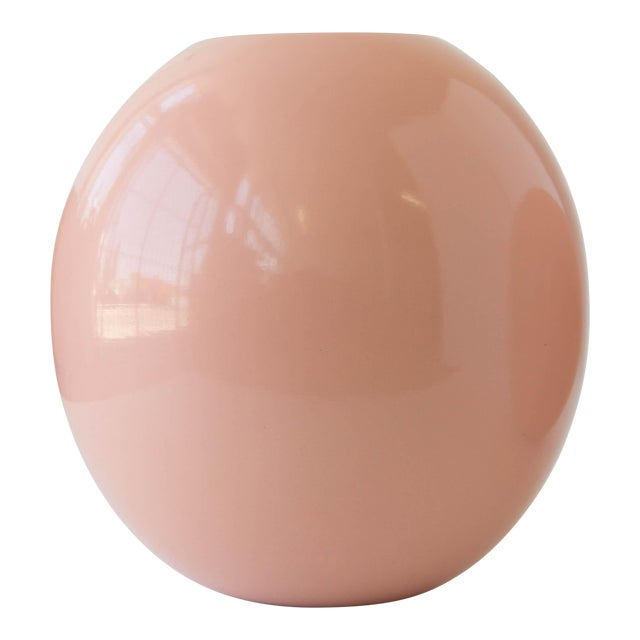 A rounded, glazed planter in 'millennial pink' by ceramics artist Marilyn Kay Austin for Architectural Pottery. This...