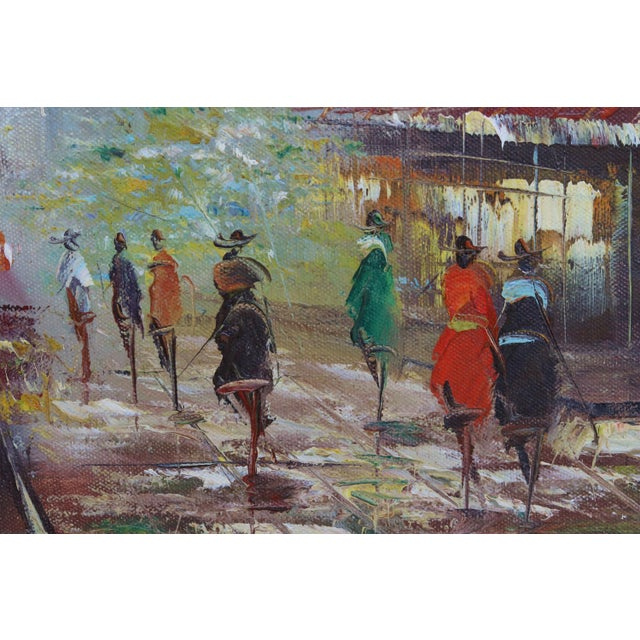 French Street Scene Oil Painting For Sale In Tampa - Image 6 of 8