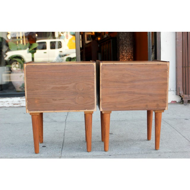Mid-Century Modern Walnut Night Stands - a Pair For Sale - Image 4 of 12