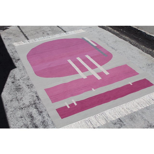Andrew Boos Handwoven Wool Rug For Sale - Image 10 of 13