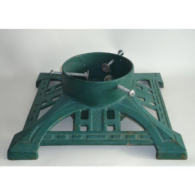 Antique Arts & Crafts Style Cast Iron Christmas Tree Stand - Image 4 of 4