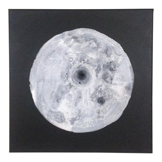 Black & White Moon Painting