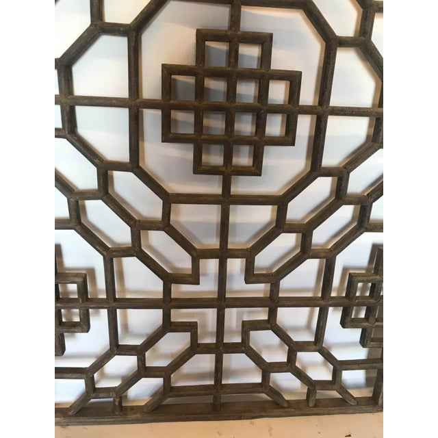 Set of Four 19th Century Japanese Lattice Wooden Panels For Sale - Image 10 of 13