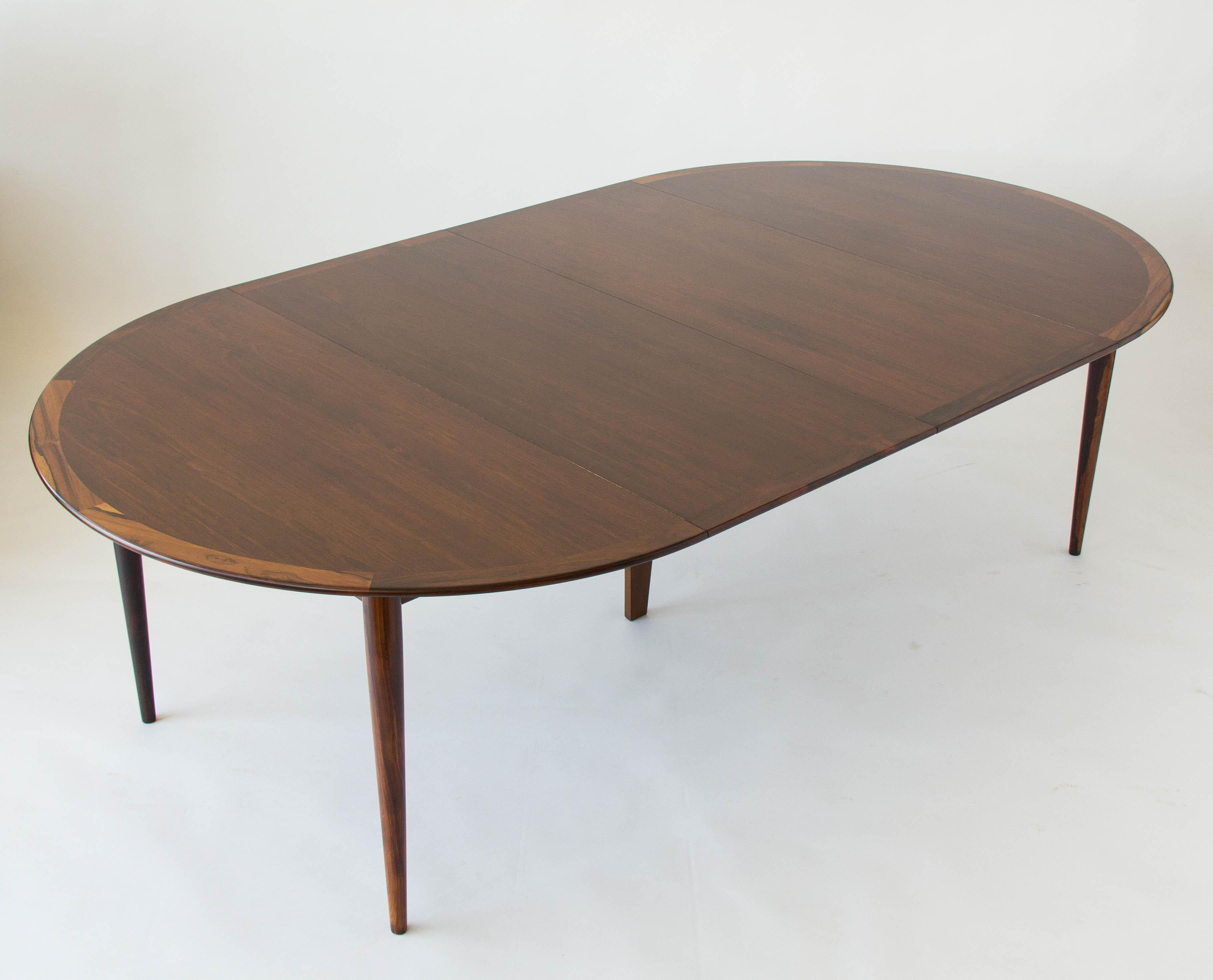Beau Rosewood Round Dining Table By Grete Jalk For P. Jeppesen   Image 6 Of 7