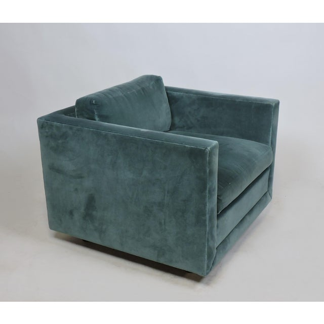 Edward Wormley Mid-Century Modern Wormley Probber Style Cube Lounge Chair For Sale - Image 4 of 12