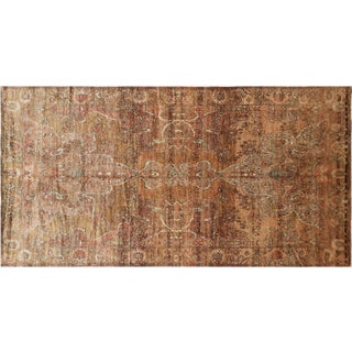 """1960s Turkish Oushak Rug - 4'9"""" X 9'3"""" For Sale"""