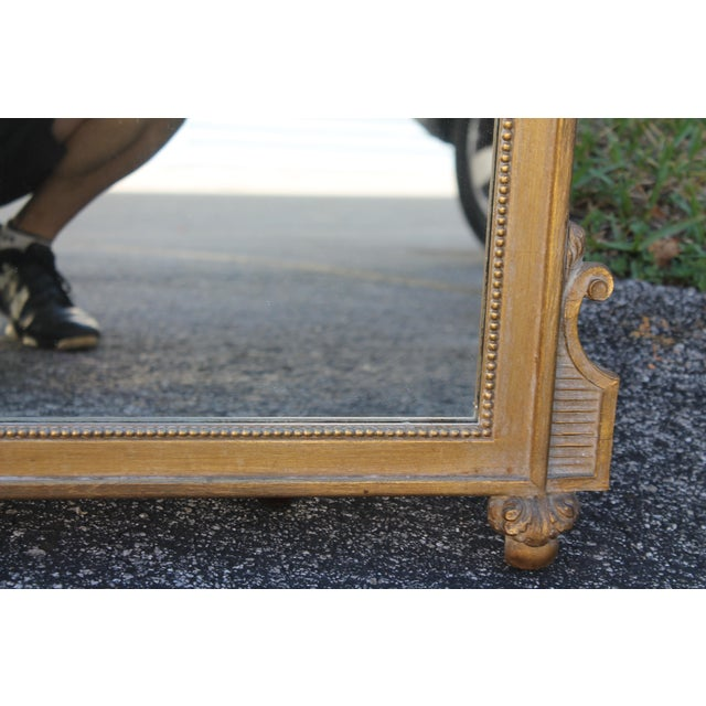 1940's Neoclassical Style Carved Walnut Wall Mirror For Sale - Image 11 of 13
