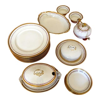 Antique WM Guerin Limoges France China Dinnerware - 25 Pieces For Sale