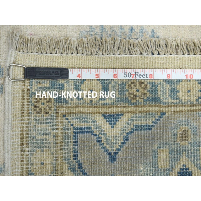 Kazak Geometric Design Wool Hand-Knotted Rug For Sale In New York - Image 6 of 7