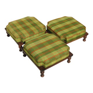 Late 19th Century Ethan Allen Stackable Foot Stools- Set of 3 For Sale