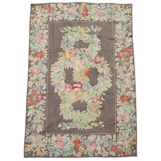 English Needlepoint Rug - 7′5″ × 10′ For Sale