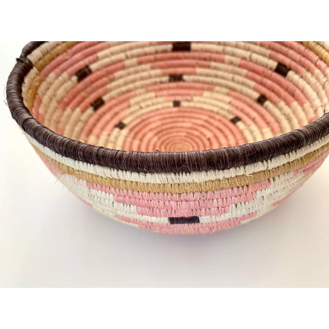 2010s Pale Blush Sozi Catch All Woven Bowl For Sale - Image 5 of 10