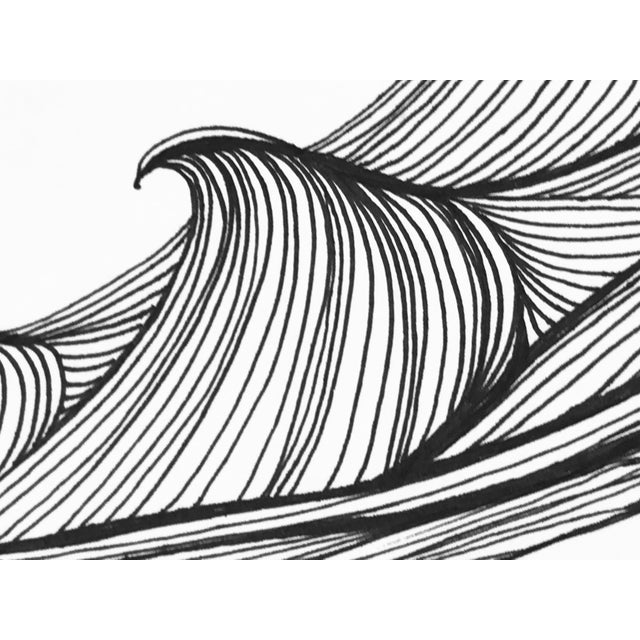 "Christy Almond ""The Waves of the Sea"" Contemporary Pen & Ink Drawing For Sale - Image 4 of 8"