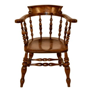 19th C Captain's Chair For Sale