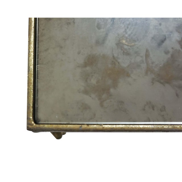 Glostrup Metal Entryway Console Table With Mirror Top - Image 4 of 7