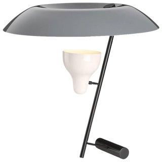 Mid-Century Modern Gino Sarfatti Model #548 Gray & Burnished Brass Table Lamp For Sale