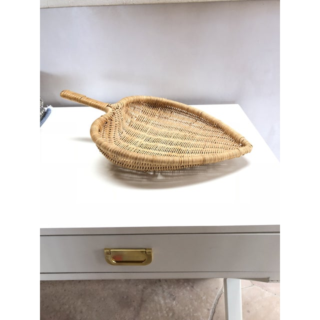 1960s Boho Chic Wicker Basket With Handle For Sale - Image 11 of 11