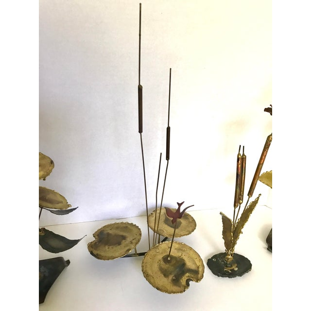 Vintage Botanical Brass Sculptures - Set of 4 - Image 4 of 7