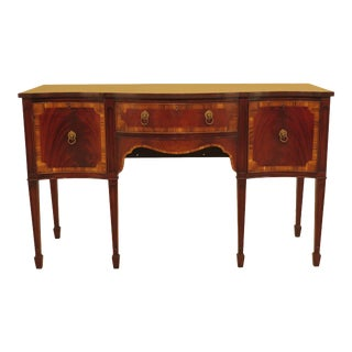 1950s Traditional English Made Mahogany Sideboard With Rosewood Banding For Sale