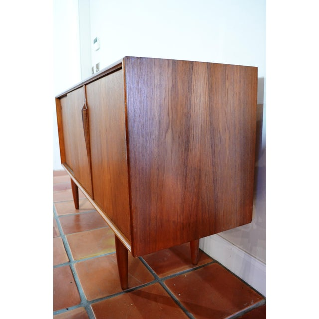 Gunni Omann Mid-Century Danish Teak Credenza For Sale In Miami - Image 6 of 10