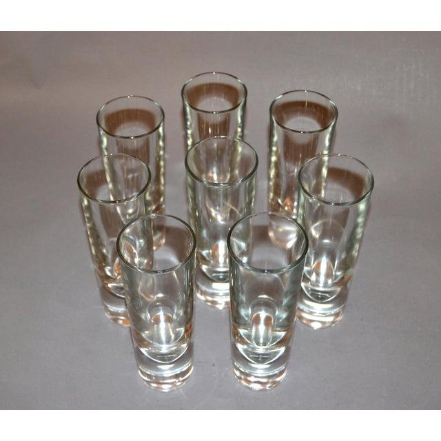 Carlo Moretti Set of 8 Carlo Moretti Modern Heavy Blown Glass Drinking Glasses Glassware Italy For Sale - Image 4 of 11
