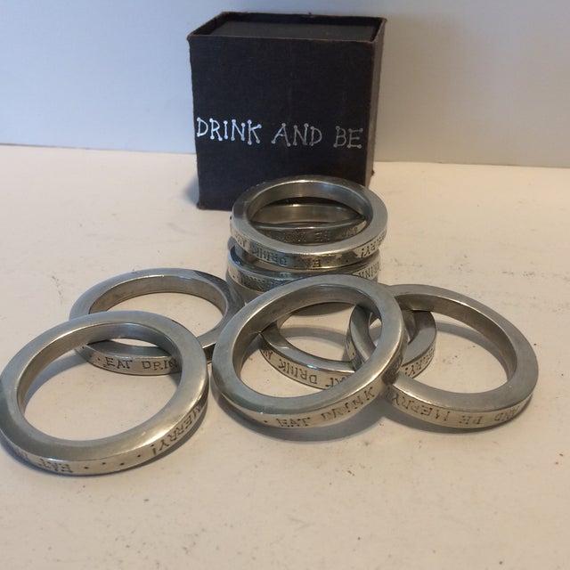 Silver Vintage Vilmain + Klinger USA Napkin Rings - Set of 8 For Sale - Image 8 of 10
