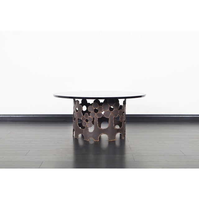 Vintage Bronze Coffee Table For Sale - Image 4 of 10