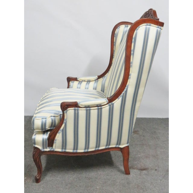 Louis XV Louis XV Style Walnut Wing Chair For Sale - Image 3 of 8