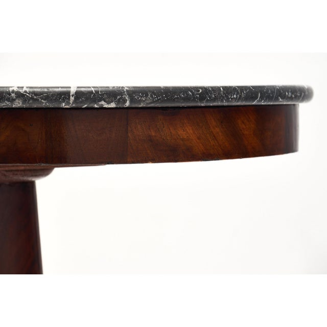 Empire Period Gueridon Table With Gray Marble Top For Sale In Austin - Image 6 of 9
