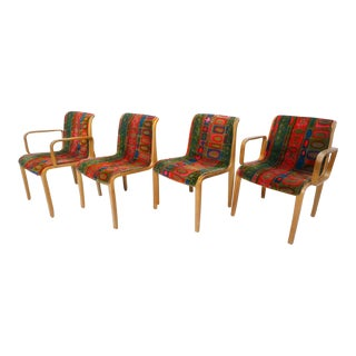 Bill Stephens & Jack Lenor Larson for Knoll Chairs - Set of 4