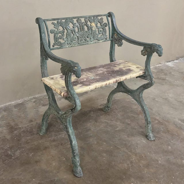 Early 19th Century French Charles X Cast Iron Armchair For Sale - Image 4 of 11