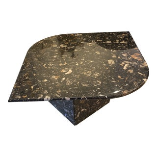 Eye Shape Marble Cocktail Table For Sale