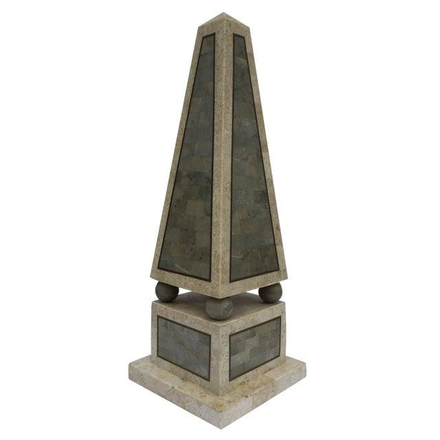Maitland Smith Tessellated Stone Obelisk - Image 1 of 8
