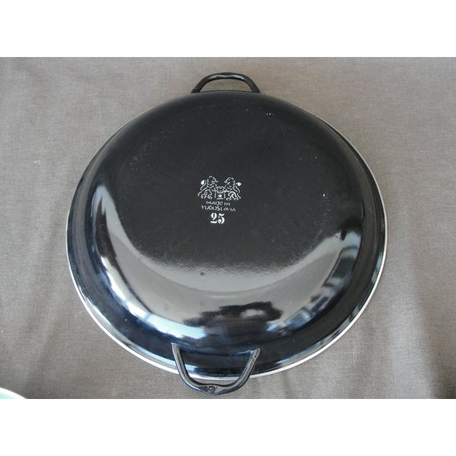 Enameled Steel Saute Pans - Set of 4 For Sale - Image 5 of 11