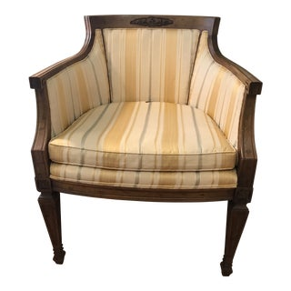 1960s Vintage Drexel Traditional Accent Chair For Sale