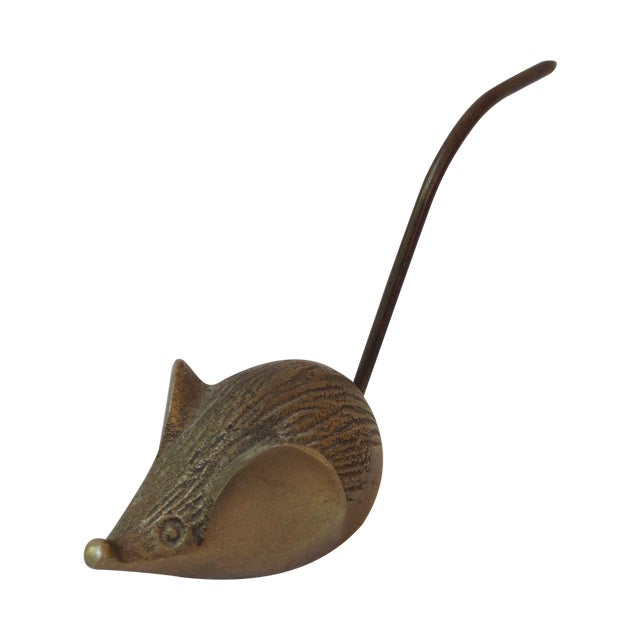 Vintage Brass Mouse Note Holder - Image 1 of 5